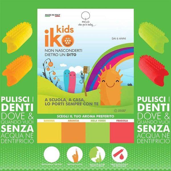 Spazzolino da denti da viaggio iKo Kids aroma Mela Verde_SPZVMEL_blister-1