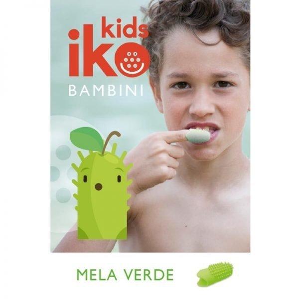 Spazzolino da denti da viaggio iKo Kids aroma Mela Verde_SPZVMEL_blister