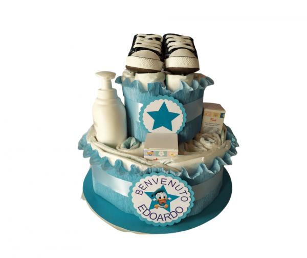 torta pannolini maschietto